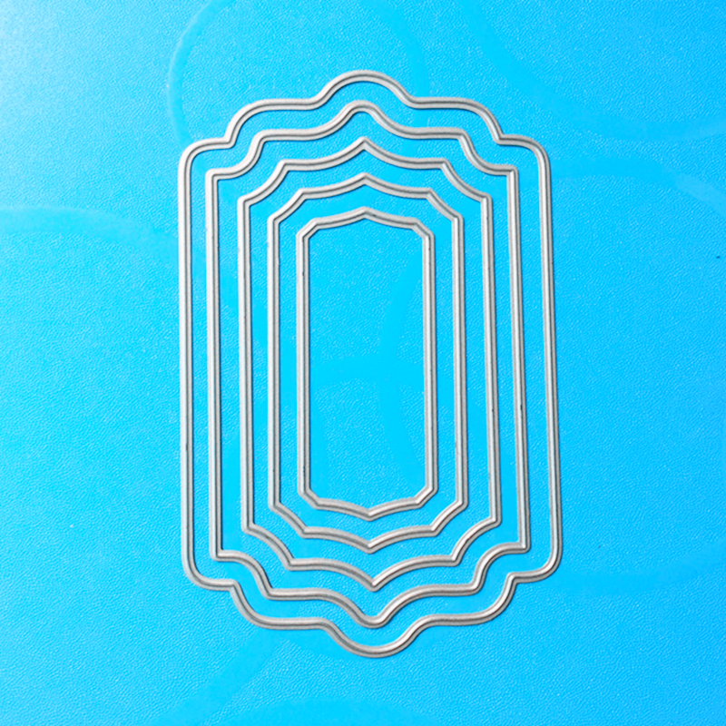 YLCD120 Out Frame Metal Cutting Dies For  Scrapbooking Stencils DIY Cards Album Decoration Embossing Folder Die Cutter Template