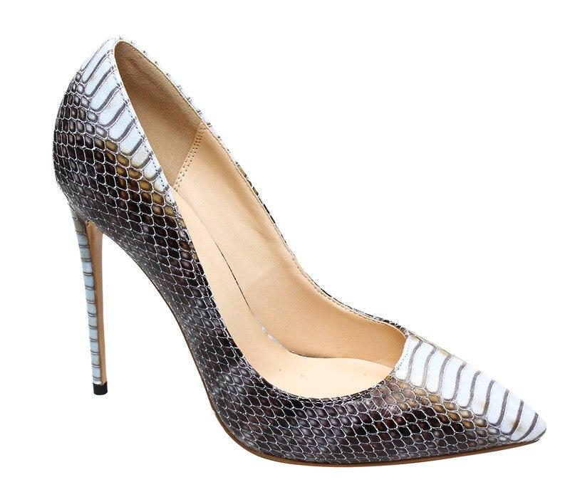Designer Talons Bout Zapatos 12 De Luxe Sexy Mujer Motif Chaussures Serpent Hauts Pompes Stylets Imprimé Cm Pointu Okhotcn Femmes RHaw4qa