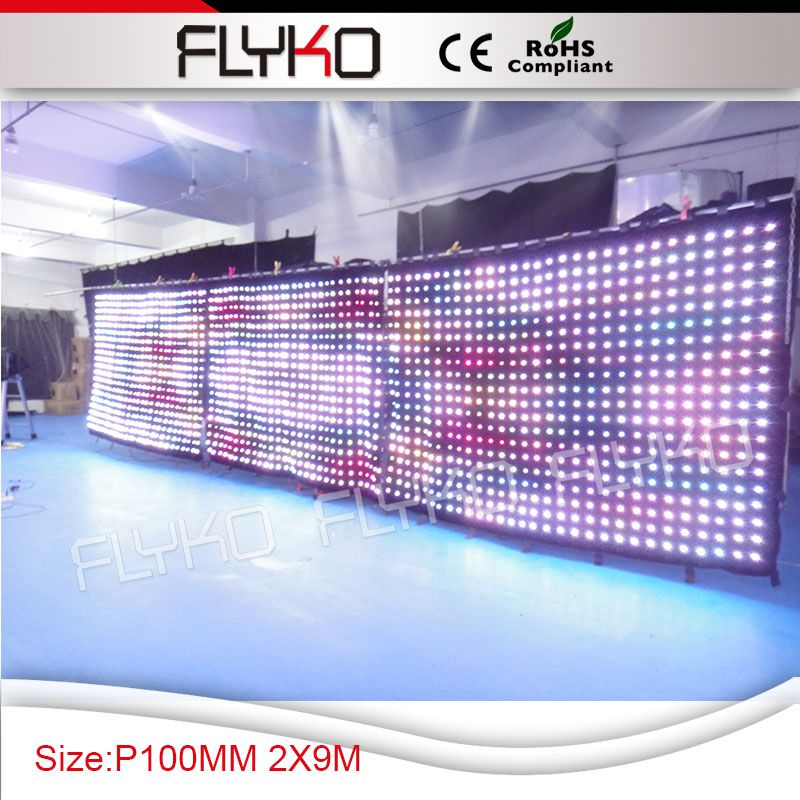 p10 led video curtain stage backdrop for new year decoration