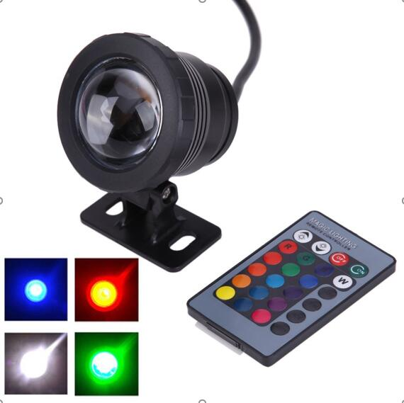 10 W Подводные RGB подсветкой 12 V 110 V 220 V 85 240 V Водонепроницаемый IP68 пруд с изображением пейзажа с фонтаном светодиодная подсветка для бассейнов