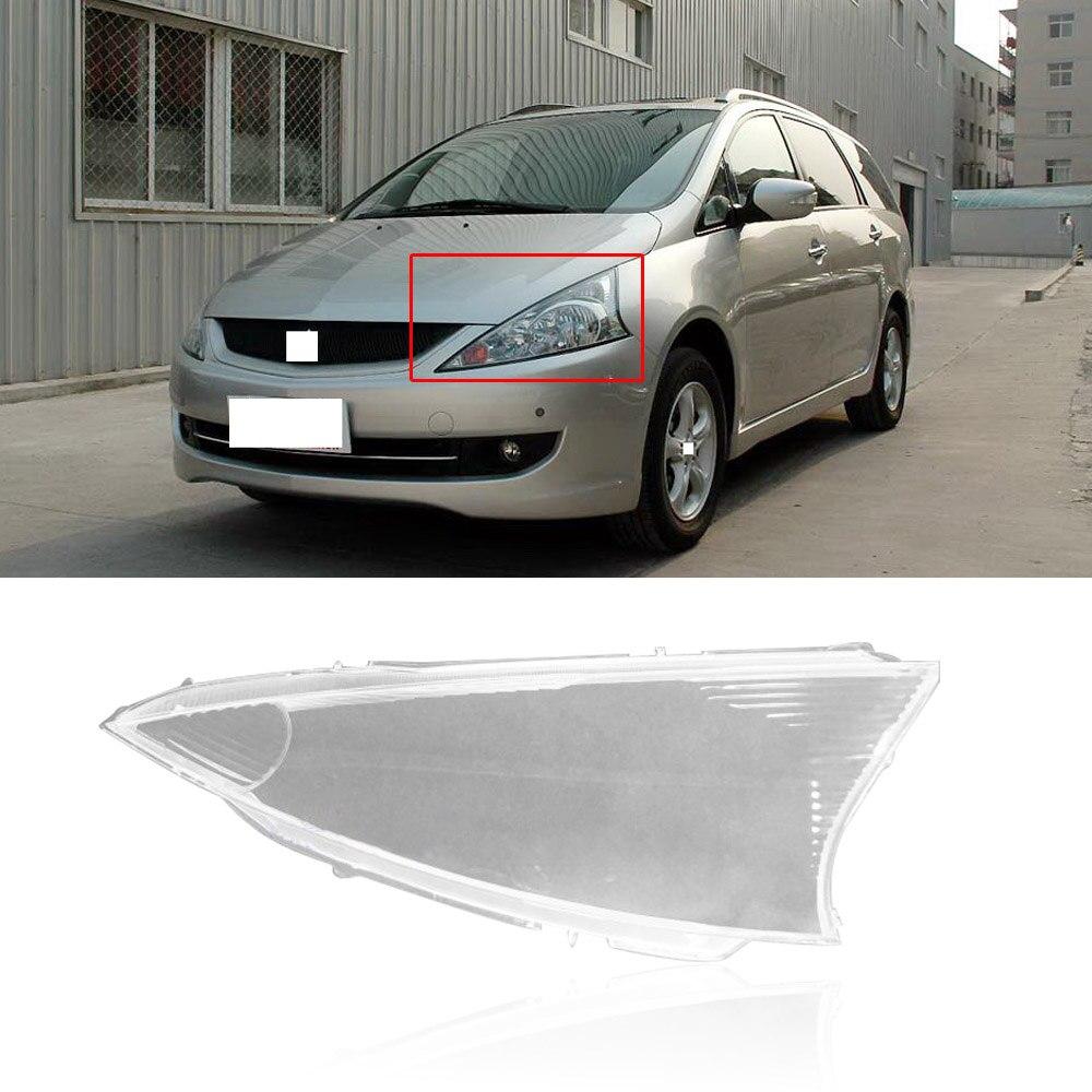 CAPQX For Mitsubishi Grandis  Front Head Light Headlamp Cover Lampshade Waterproof Lampcover Lamp Shade Shell Hood