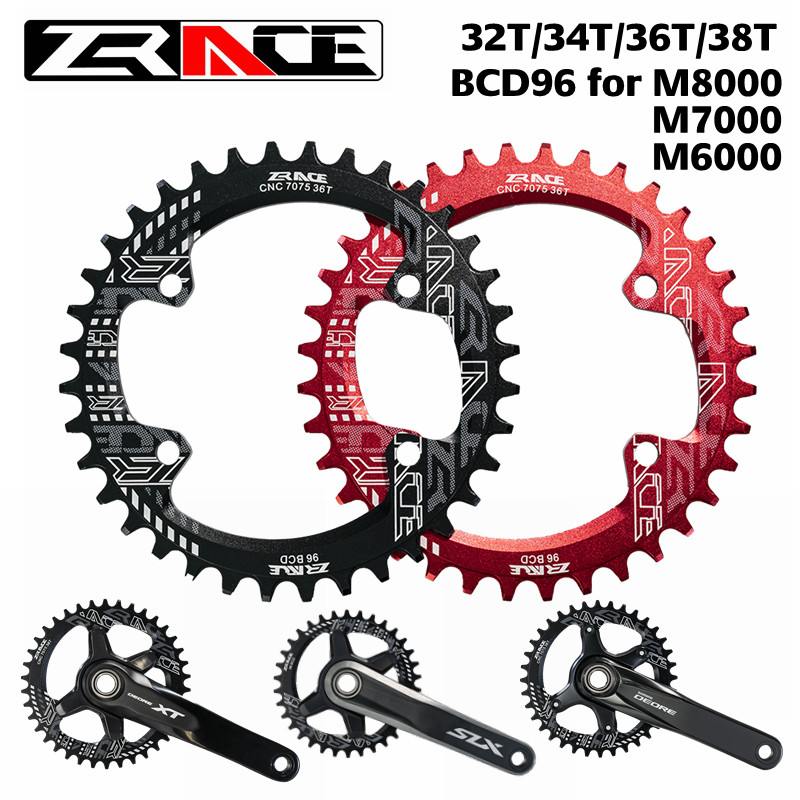 ZRACE Bicycle Chain Wheel 32T 34T 36T 38T BCD96 for M8000 <font><b>M7000</b></font> M6000,CNC AL7075 Vickers-hardness 15 <font><b>Chainring</b></font> for shimano image