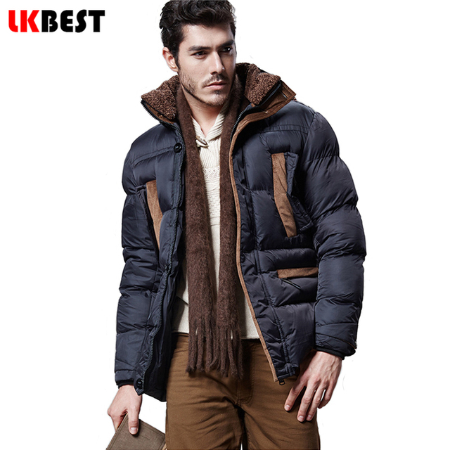2017 winter men's jacket cotton Hooded warm winter coat cotton men parka fashion thick men overcoat brand clothing (PW611)
