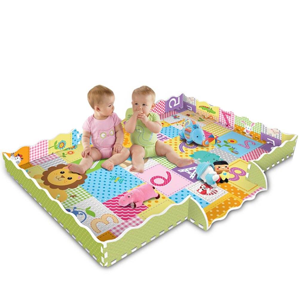 Tapis de motif Animal de bande dessinée tapis de Puzzle en mousse EVA tapis de jeu pour enfants tapis de jeu pour enfants