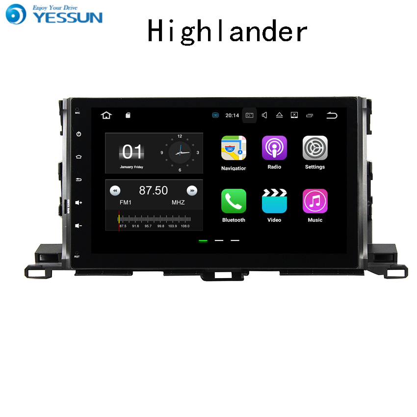 YESSUN For Toyota Highlander 2015~2017 Android Car Navigation GPS Audio Video HD Touch Screen Multimedia Player No CD DVD