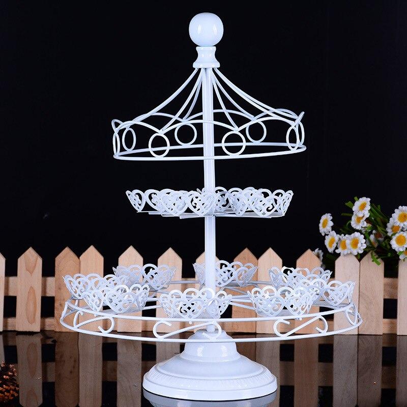 12 tasses mariage gâteau Stands fête décoration Dessert Cupcake Stand mariage anniversaire fête décoration blanc gâteau plaque