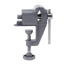Universal Mini Bench Vise Aluminium Alloy 30mm Table Screw Vise Bench Clamp Screw Vise for DIY Craft Mold Fixed Repair Tool(China)