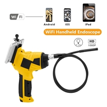 WiFi Handheld Endoscope 1080P Inspection Camera for Auto Repair Tool Snake Hard Waterproof 4.3 Inch Industrial Home Endoscope 4 3 inch 8mm air conditioner cleaning spray av endoscope handheld endoscope for car or home anti mildew treatment of automobile