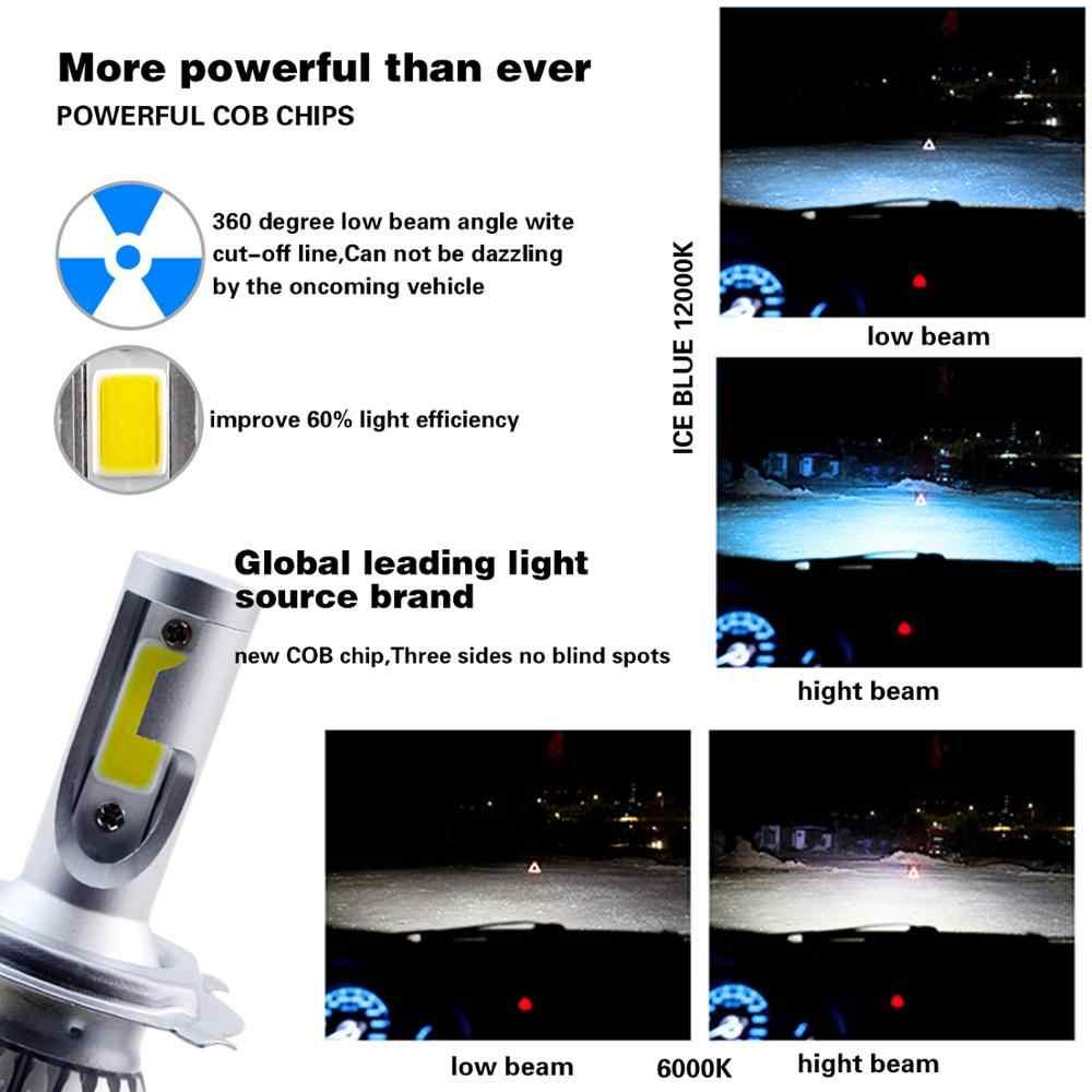 2PCS H7 H3 LED H1 H9 H4 H13 Bulb 60W Headlights Auto Lamp With H11 LED car Light 6000K White 12V Automobile LED lamp BH
