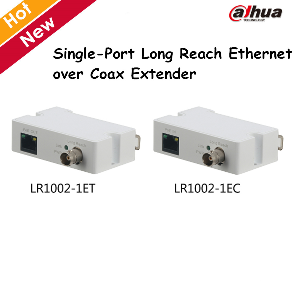 Dahua Single-Port Long Reach Ethernet over Coax Extender LR1002-1ET LR1002-1EC 1 RJ45 10 ...
