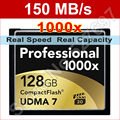 150MB/s Brand Pro 1000x 128GB UDMA 7 CF Compact Flash Memory Card For DSLR Camera 1080p Full HD 3D Video Camcorder Free Shipping