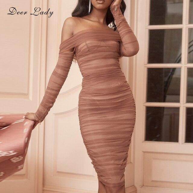 Hươu Phụ Nữ Mùa Hè Bandage Dress Rayon 2019 Người Nổi Tiếng Đảng Dresses Thanh Lịch Váy Quây Băng Bodycon Sexy Tua Váy