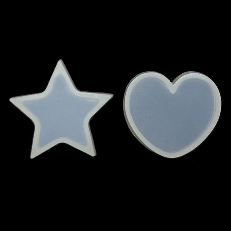 DIY Star Heart Silicone Resin Mold Resin Necklace Pendant Jewelry Making Tools