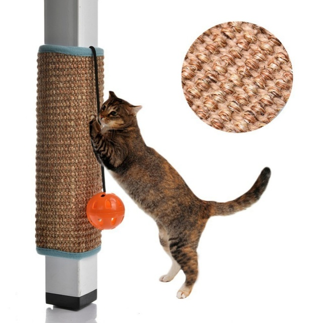 Scratching Board Mat Pad Cat Sisal Loop Carpet Scratcher Indoor Home  Furniture Table Chair Sofa Legs