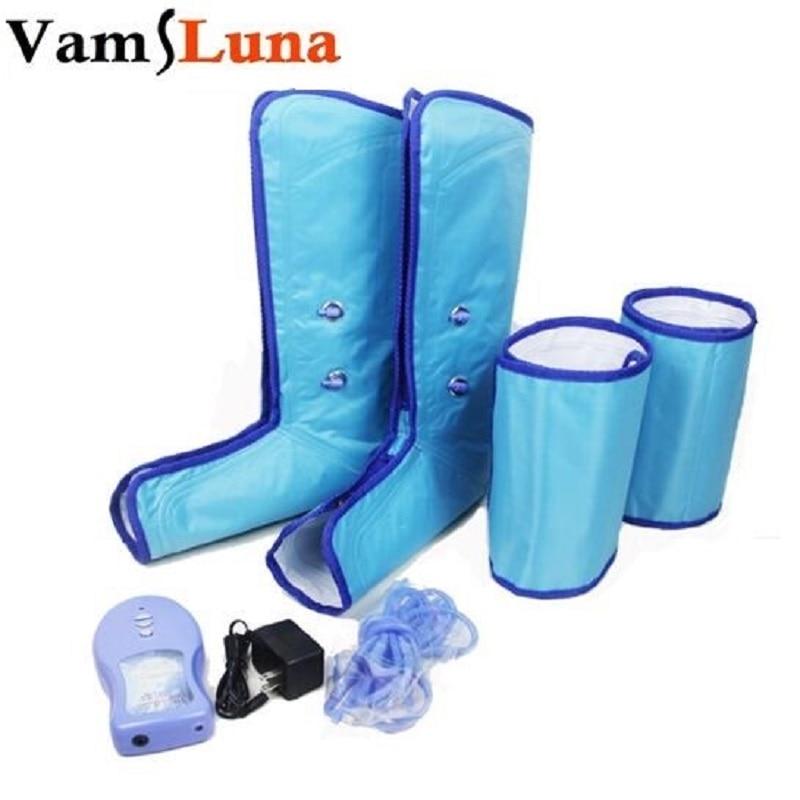VamsLuna Leg Compression Massager for Foot and Calf Circulation Massage Air Leg Wraps vamsluna electric shiatsu foot massager including kneading air pressure massage
