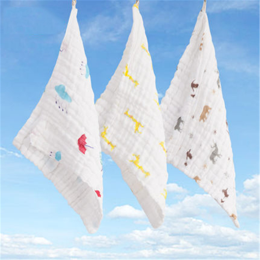 Soft Baby Bath Towel Cotton Newborn Muslin Handkerchief Luxury Toallas Absorbent Cozy Cute 3 Pcs Baby Towel Set 70A0112