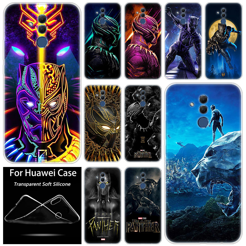 Hot <font><b>Marvel</b></font> Black Panther Silicone <font><b>Case</b></font> for <font><b>Huawei</b></font> Mate 10 20 Lite Pro <font><b>Y7</b></font> Y9 Prime <font><b>2019</b></font> Y5 <font><b>2019</b></font> Y6 Prime 2018 Y5 2017 TPU Cover image