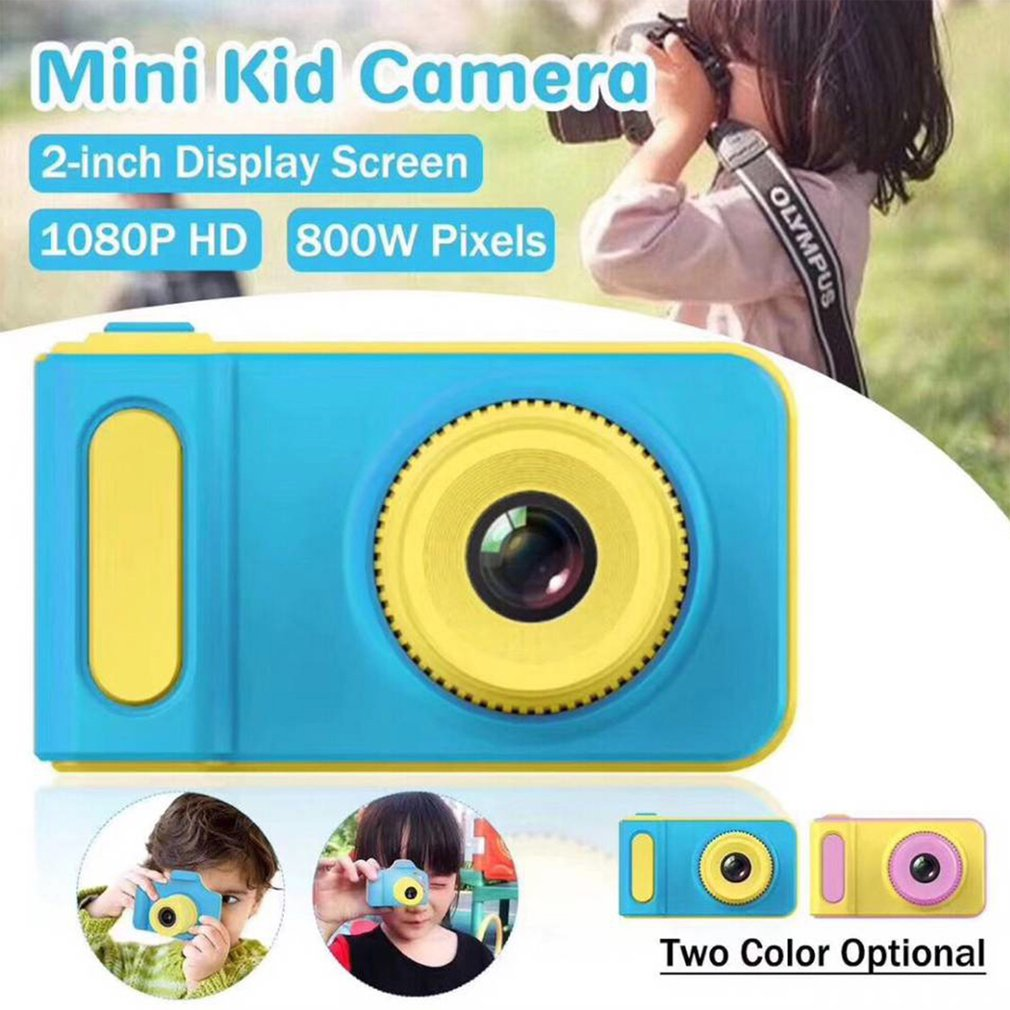 Mini Digital Camera 2 Inch Cartoon Cute kamera Toys Children Birthday Gift 1080P HD Toddler Toys Video Camara for Kids
