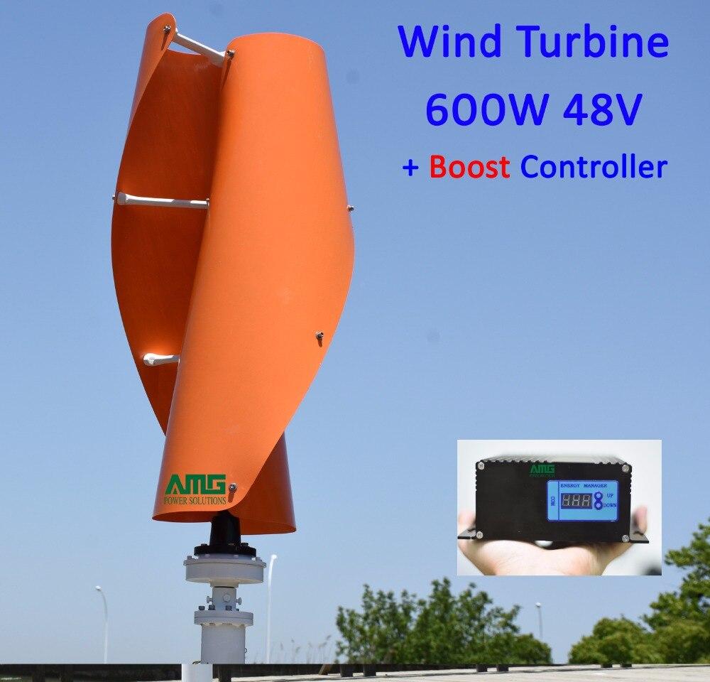 382e4a31a56 400W500W600W 48 V Eixo Vertical VAWT Residencial uso Doméstico Gerador de Turbina  Eólica + 600 W Vento 300 W Híbrido Solar Controlador do carregador em ...