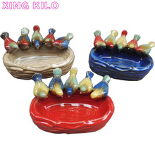 купить Modern  European home creative small ceramic fruit bowl living room porch key tray coffee table dining table storage ornaments по цене 3167.91 рублей