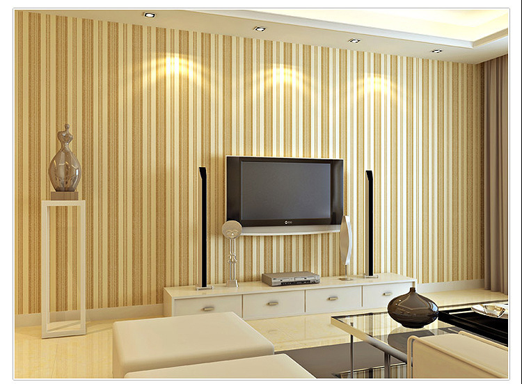 New Arrival High Quality Vertical Stripe Pattern Non Woven Living ...