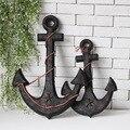 Большая 45-62 см деревянная старинная лодка в средиземноморском стиле  якорь  морская домашняя стена  морской Летающий домашний декор  подарк...