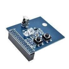 38KHz IR sterowania na podczerwień karta rozszerzenia Transceiver odbiornik nadajnik tarcza DIY podwójne nadajnik podczerwieni dla Raspberry Pi