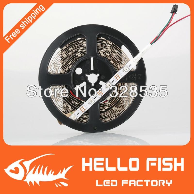 HELLO FISH 5M Built-in WS2812B Full Color LED strip,150 LED 150 pixels,  Raspberry Pi Pixel matrix Display Arduino DIY led strip