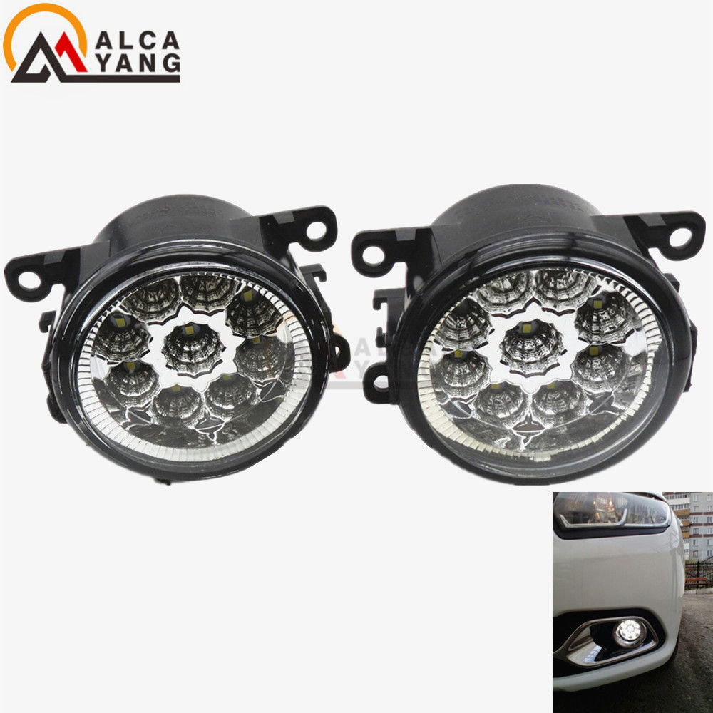1set CCC For Renault LOGAN Saloon LS 2004-2015 Angel Eyes Car styling front bumper LED fog Lights high brightness fog lamps for dacia logan saloon ls
