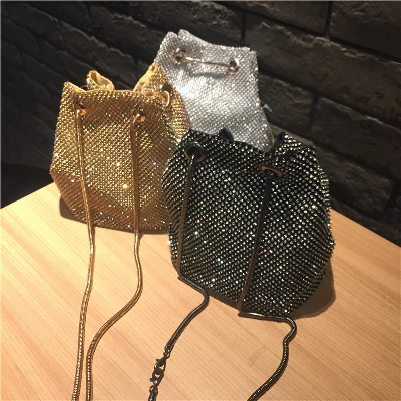 Female Diamond Handbag Vintage Crystal Design Evening Bag Wedding Party Bride Clutch Velour Bag Purse rhinestone shoulder bags