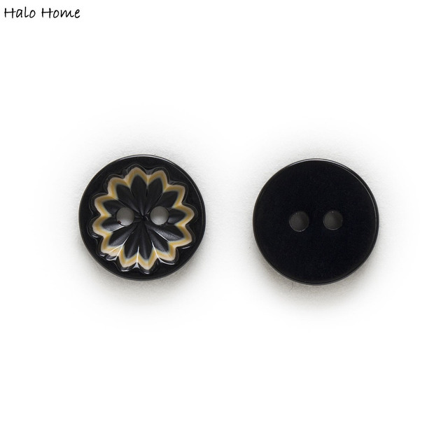 13mm 30/50pcs 2 Hole Round Resin Ripple Adorn Button Optional Clothing Home Decor Craft Scrapbook Sewing Accessories