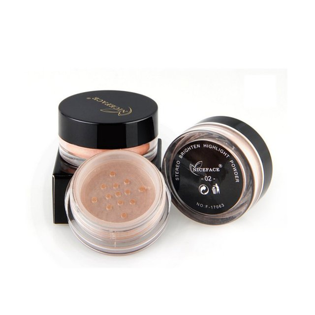Loose Powder Pearl Shimmer Face Makeup Finishing Foundation Beauty Makeup Highlighter Powder 4