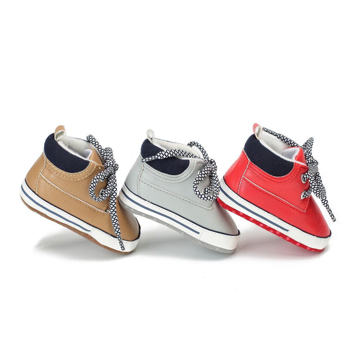 New Arrival 2018 Toddler Baby Shoes PU Leather Boy And Girls Leisure Sport Shoes Spring Autumn Infant Shoes First Walkers