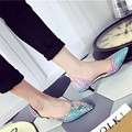 2017 New Pointed Toe Pumps Shallow Mouth Sexy Thin Heel Sandals Spring Summer 6 cm High Heel Shoes
