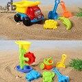 6 pçs/set 25*15*16 cm 2 padrões Bonito Crianças praia brinquedos de plástico para crianças brinquedo conjunto de Brinquedos de Praia Balde de Areia das dunas Pá Ferramentas de Molde verão