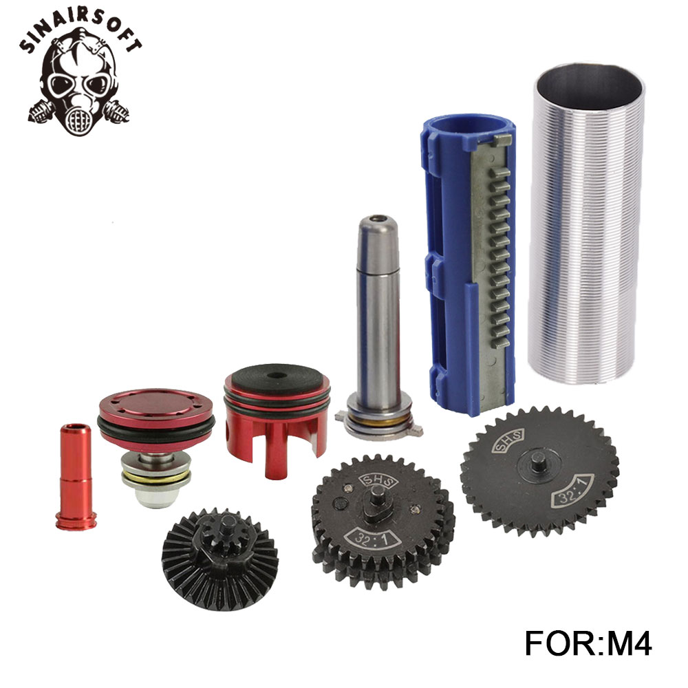 SHS-32-1-Gear-Nozzle-Cylinder-Spring-Guide-14-Teeth-Piston-Kit-Fit-Airsoft-AK-MP5 (1)