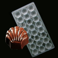 Shell Shaped Candy Molds Jelly Mould Plastic Baking Tray Polycarbonate DIY Chocolate PC Mold