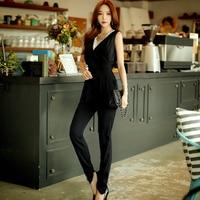 Original 2017 Brand Bodysuit Sexy Lace Patchwork Slim Elegant Casual Black Full Heran Jumpsuits Women Summer