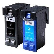 2PK Картриджи Для HP 27 28 Для HP Fax 1240/DJ3325/3420/OfficeJet 4315 В/Deskjet 3320/PSC 1315 Чернила струйного Принтера Бесплатная Доставка