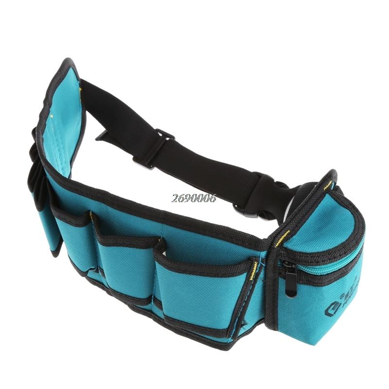Multi-Pockets Waist Utility Belt Organizer Bag Tool Slot Screwdriver Carry Case APR11_25