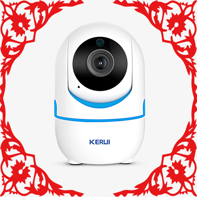 KERUI IP Camera Home Security Monitoring System Network WiFi  HD 1080P Wireless Indoor Infrared  Camera Intelligent Mail Alarm
