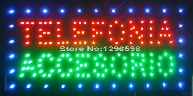 2017 Promotion new Graphics telefonia accesorios/telephone accessories10X19 inch telephone accessories business shop sign of Led