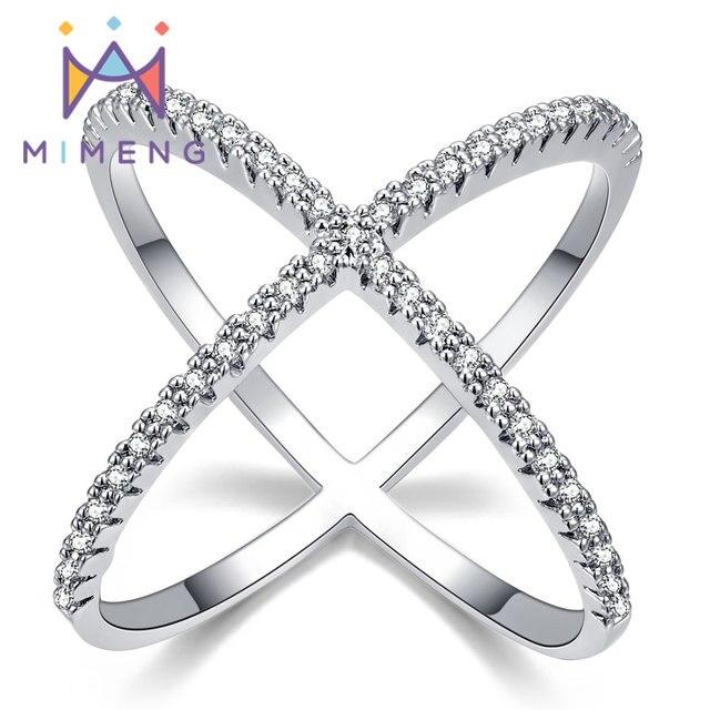 1e27b3394755 X forma anillo nuevo diseño de anillo para las mujeres llenas de Zirconia más  nuevo diseño