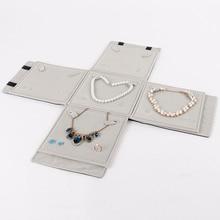 Портативный многофункциональный бархатный мешок для хранения ювелирных изделий валик для путешествий сумка органайзер для подвески ожерелье серьги кольцо набор держатель