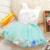 Infantil Bebé Ropa de Verano 2017 de Moda Vestido de la Muchacha Toddle Tutú Soleado Ropa de Bautizo Vestido Patchwork Pétalo Patrón
