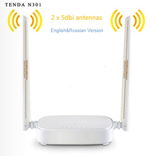 Universal Repetidor Inalámbrico Router WiFi Tenda N301 Router Wifi 300 Mbps Con Inglés Firmware