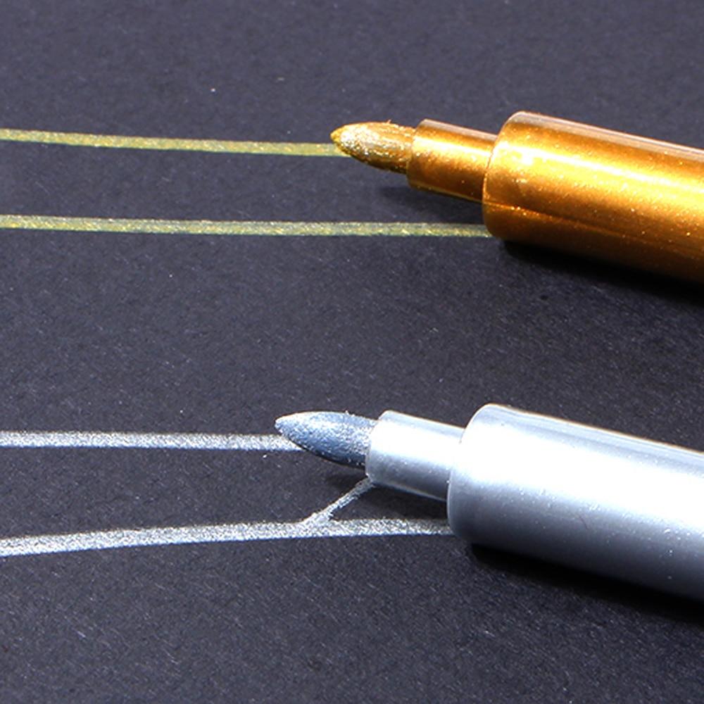 Ölfarbe Stift Markierungsstift Metall Farbe Gold und Silber 1,5mm Up - Kugelschreiber, Bleistifte und Schreibutensilien - Foto 5