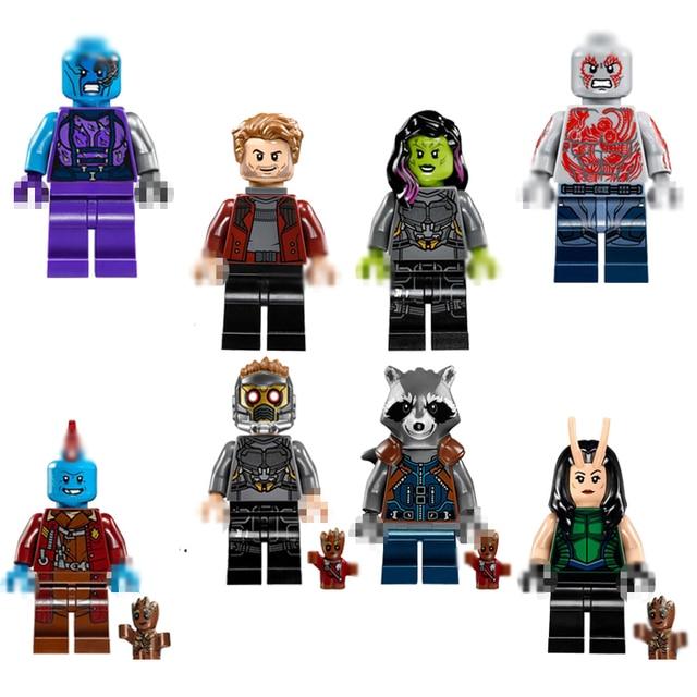 Blocos De Construção De Mini Figuras de Ação Brinquedos Bricks Compatíveis Brinquedos Senhor Rocket Guaxinim Brinquedos de Presente de Aniversário Para O Miúdo