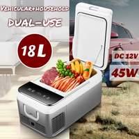 DC 12 V 240 V Автомобильный холодильник морозильник 18L автомобильный холодильник Компрессор для автомобиля дома пикника Холодильный морозильни...
