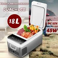 DC 12V 240V Car Refrigerator Freezer Cooler 18L Car Fridge Compressor for Car Home Picnic Refrigeration Freezer 20~10 Degrees